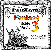 Fantasy Table Pack 3